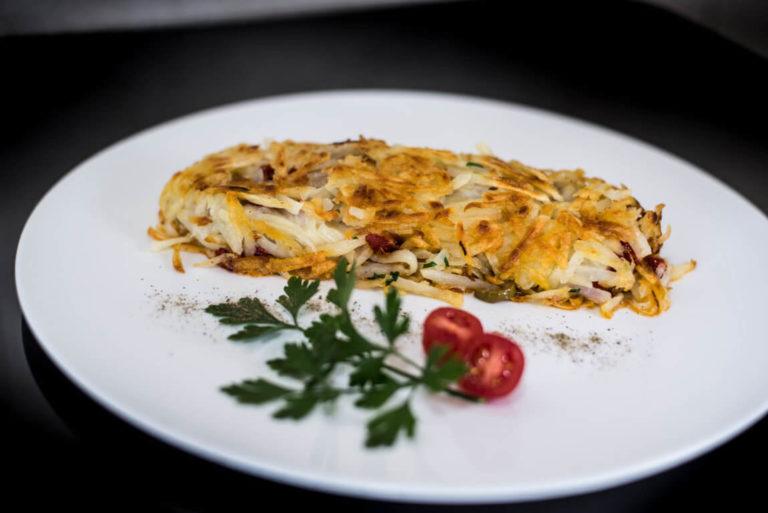 Batata Rosti com Mozzarella de Búfala Bom Destino